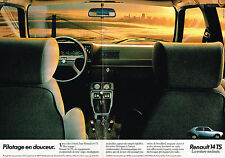 PUBLICITE ADVERTISING 104  1980  RENAULT 14 TS   (double page)