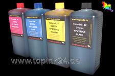 4 x 1 Liter Nachfüllset DYE Tinte für HP Designjet C1806A C1807A C1808A C1809A L