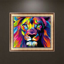 5D Diamond Embroidery DIY Lion Animal Painting Cross Stitch Craft Home Decor