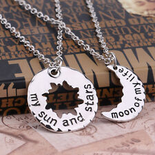 2PCs/Set My Sun and Stars Pendant Necklace Silver Game of  Thrones Moon of Life