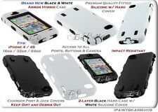 for APPLE IPHONE 4 4S HYBRID TPU SILICONE SKIN IMPACT RESISTANT HARD CASE COVER