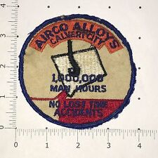 Airco Alloys 1,000,000 Man Hours No Lost Time Accidents Patch - Calvert City