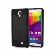 For BLU Neo XL (N110L) Rugged Hybrid Matte Tough Case Cover + Screen Protector