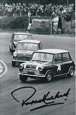 Paddy Hopkirk Hand Signed 9x6 Photo Mini Cooper Rally.