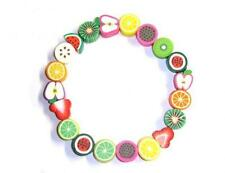 Miniature Fruit Bead Bracelet Cute Kitsch Gift Apple Watermelon Kiwi Strawberry