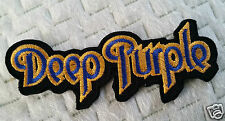 """DEEP PURPLE"" EMBROIDERED PATCH MOTORCYCLE PUNK ROCKABILLY TATTOO HEAVY METAL"