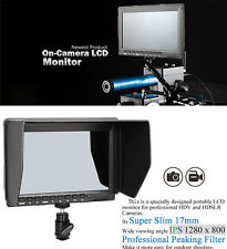 "Fast Ship 7"" HD on Camera 1280x800 Field 5D Monitor HDMI for BMPCC/GH4/A7S/Canon"