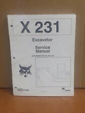 Bobcat X231 Compact Excavator Service Manual Shop Repair Book 2 Part 6722178