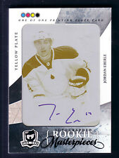 JORDAN EBERLE 10/11 THE CUP PRINTING PLATE MASTERPIECE ROOKIE RC  AUTO  1/1