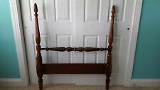 VINTAGE FOUR-POSTER SOLID, DARK WOOD TWIN BED SET (2 BEDS) by DIXIE