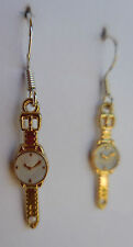 Time out! earrings wrist watch wristwatch clock time piece funky cute white gold