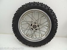 "01 POLINI X3R X3 50 MINI DIRTBIKE FRONT 10"" RIM WHEEL HUB W/ GOOD USED TIRE A"