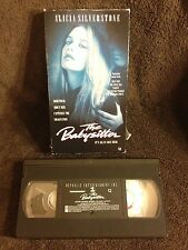 The Babysitter - VHS Videotape - Alicia Silverstone - Jeremy London -90's - Rare