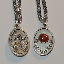 "NEW St Joseph Relic Holy Medal on 24"" Chain - Carpenters Single Women Families"