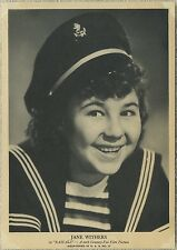 Jane Withers 1939 Aquatoned in USA #17 Large 5x7 Trading Card - R96