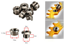 4 Pairs/Lot M8*6mm Titanium Ti Crankset Chainring Bolts Nuts for Racing MTB Bike