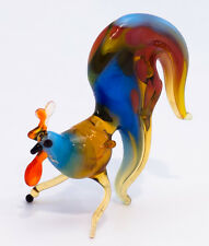 "Glass figurine of small colorful Rooster ""murano"" handmade in Ukraine"