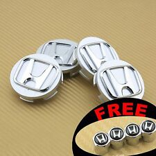 SET OF 4 PCS SILVER CHROME LOGO WHEEL CAP HUB CENTER for HONDA US SELLER