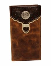 Nocona Western Wallet Mens Rodeo Overlay Concho Light Brown N54942166