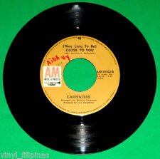 "PHILIPPINES:CARPENTERS - They Long To Be Close To You,7"" 45 RPM,RARE"