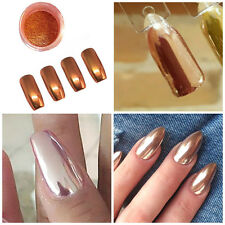 2G Nail Rose Gold Mirror Glitter Chrome Powder Nail Art Pigment Manicure DIY Tip