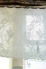 Doves cotton lace window valance shabby chic cottage bris-bise White 24""