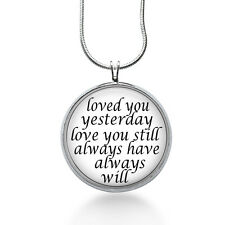 Love You Necklace, Quote Pendant, love, gifts for women,jewelry, necklace