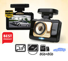 "Lukas LK-9390 Blackbox Dash Camera 2CH Full HD ADAS 3.5""LCD Dual 8Gb+8Gb+GPS"