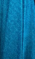 "Shiny Glitter Look Stretch Dance Net Mesh Fabric  60"" Width Turquoise Blue"