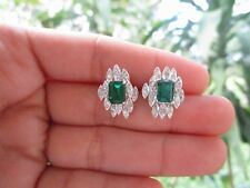 .36 Carat Diamond with Tourmaline White Gold Earrings 14K sep013 PAYPAL