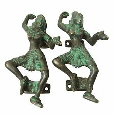 Decorative Door Handle Brass Metal Figurine Dancing Women Brass Metal Art India