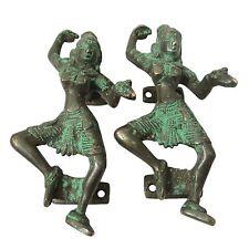 Decorative Door Handle Brass Metal Figurine Dancing Women Brass Metal Art India