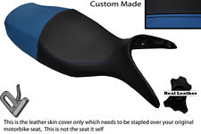 BLACK & ROYAL BLUE CUSTOM FITS BMW R 1100 S 98-05 DUAL LEATHER SEAT COVER