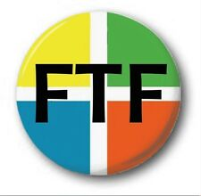 """FTF - 25mm 1"""" Button Badge - Novelty Cute Geocaching First to Find"""
