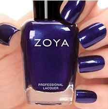 ZOYA #ZP679 NEVE sapphire blue metallic nail polish lacquer~SATINS Collection