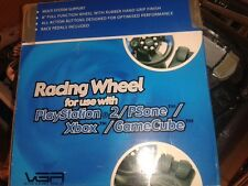 PS2 / PS1 / GAMECUBE / XBOX * VGA 4 IN 1 CHALLENGE STEERING WHEEL + PEDALS *