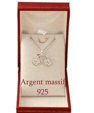 pendentif velo en Argent Massif véritable 925 avec chaine et boite  ecrin neuf