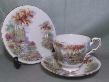 VINTAGE Paragon BONE CHINA Trio IL VECCHIO MULINO Stream Tazza Piattino Tè PIASTRA LATERALE &
