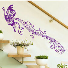 beautiful Large Butterfly Music note decor Wall sticker wall decals Mural Decor