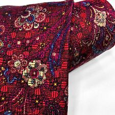 New Robert Talbott Carmel Tie Best Of Class Silk Unique Paisley Red Multi-color