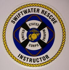 Window Bumper Sticker Military Marine Swift Water Rescue Instructor NEW Decal