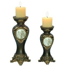 "ORE Furniture 14"" /11"" H Handcrafted Bronze Decorative Candle Holder- K-4192C"