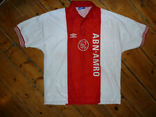 "+AJAX SHIRT + XL + 1995 ""DE MEER"" FOOTBALL TOP + CAMISETA MAILLOT MAGLlA TRIKOT"