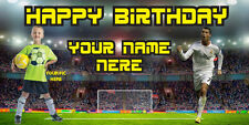 "Birthday banner Personalized ""CR7""(2) w/your Photo and Name 6x3f"