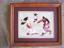 Carol Grigg, Learning the Song, Cherokee framed matted