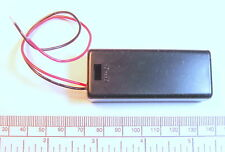 Battery holder for 2 X 'AAA' (UM-4) cell - with leads - hard case - unswitched