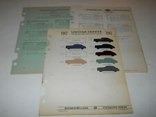 1942 LINCOLN ZEPHYR PAINT CHIP CHART COLORS SHERWIN WILLIAMS PLUS MORE