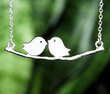 collier pendentif couple oiseau amoureux. Top tendance