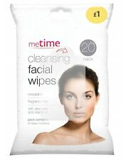 Metime Cleansing Facial Wipes - Resealable Aloe Vera Vitamin E Face Wipes