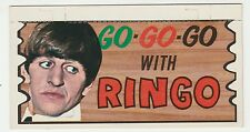 1964 TOPPS BEATLES PLAKS GO GO GO WITH RINGO CARD #16 UNUSED